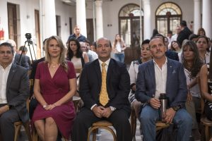 Ministros Liz Cramer y Alejandro Peralta